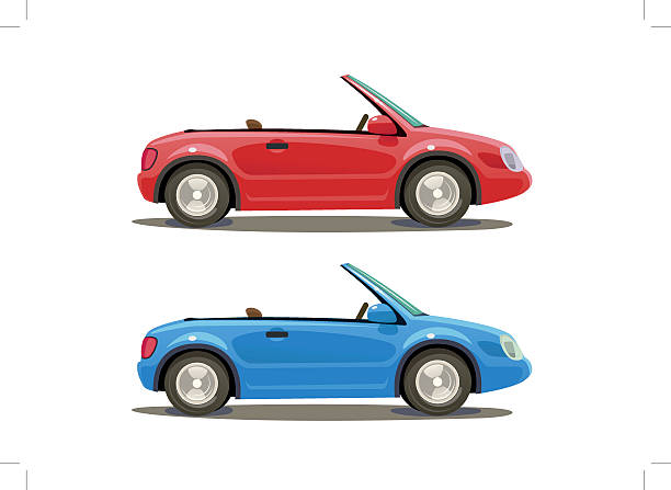 Two kit car Illustration of the Two kit car convertible stock illustrations