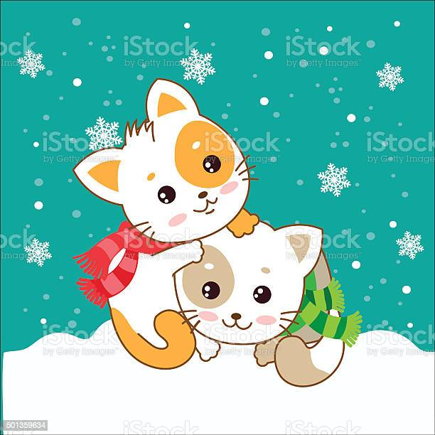 Two kittens cats in the snow vector kittens vector id501359634?b=1&k=6&m=501359634&s=612x612&h=fp6c4rqiqtxwwb5jwmn5d6jfrhmvxm7esmwgtbbzltg=