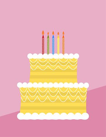 Two layer birthday cake
