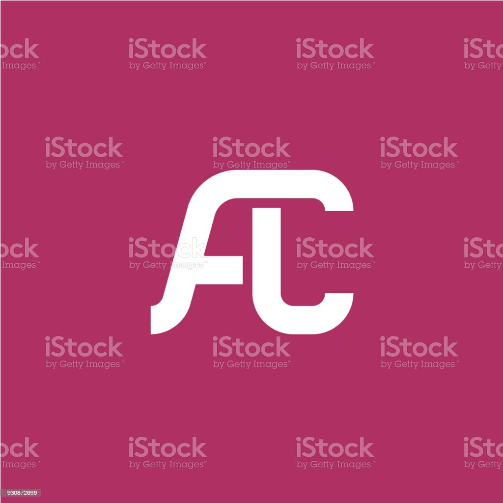 Two Letters A And C Ligature Symbol Stock Vector Art More Images