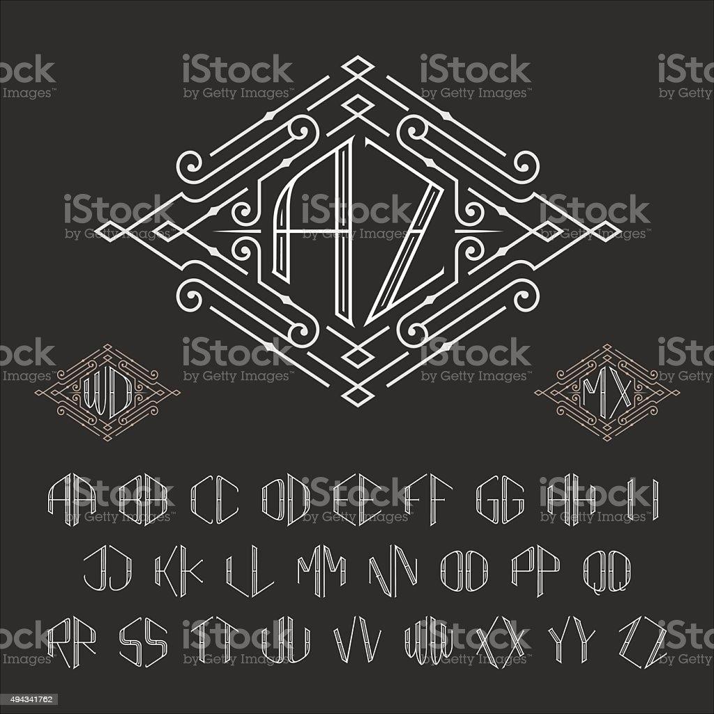 Two letters monogram template. vector art illustration