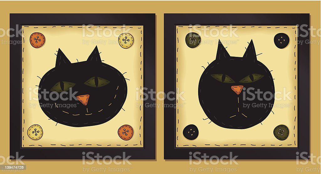Two Little Cats royalty-free stock vector art