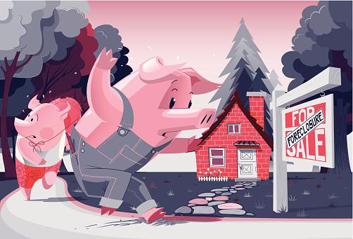 Foreclosure stock illustrations