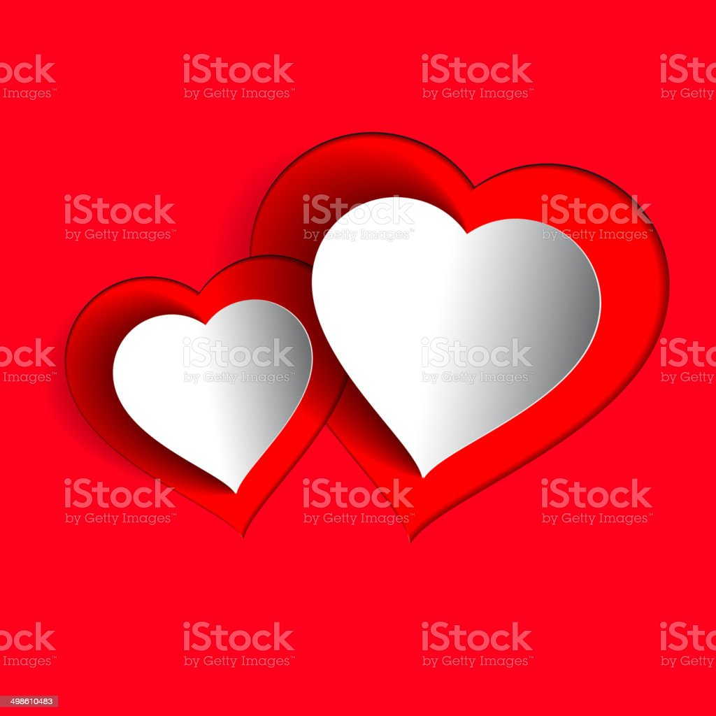 Two love hearts, vector card design concept for lovers royalty-free two love hearts vector card design concept for lovers stock vector art & more images of backgrounds