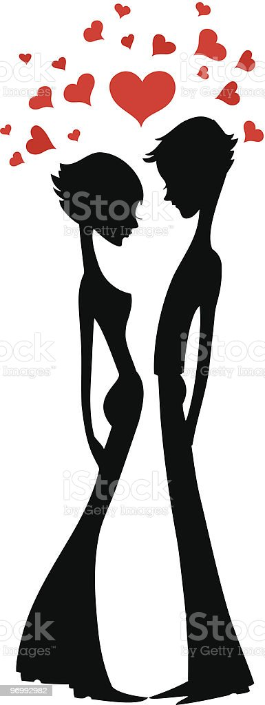 Two lovers 1 royalty-free stock vector art