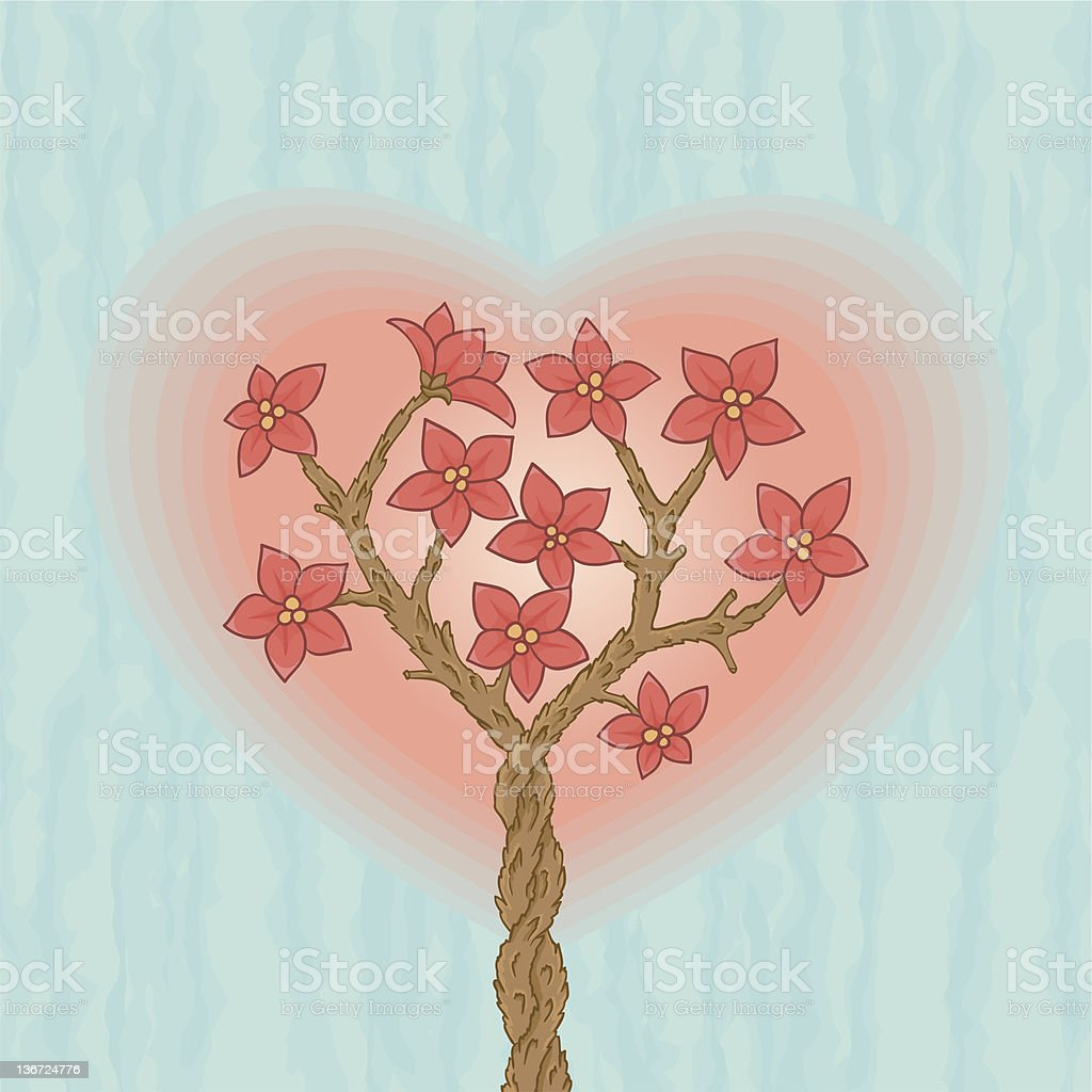 Two loving sakuras royalty-free two loving sakuras stock vector art & more images of abstract