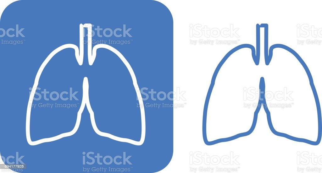 Two Lungs Icons vector art illustration