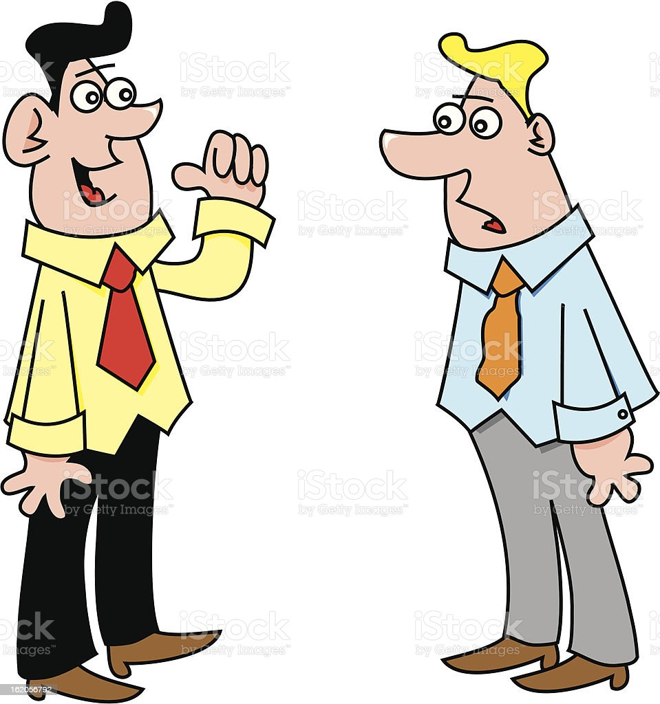 two men talking stock vector art   more images of adult argument clip art men friends arguing clipart