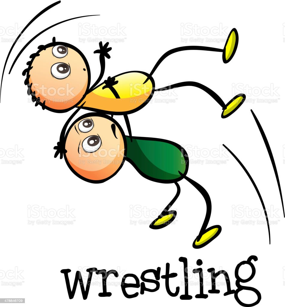 royalty free little boys wrestling clip art clip art vector images rh istockphoto com wrestling clip art vector wrestling clip art black white