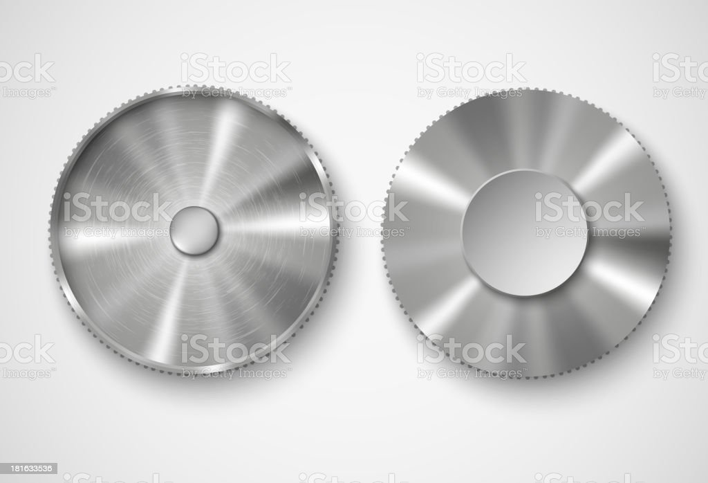 two metal buttons royalty-free stock vector art