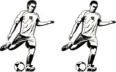 two models of soccer player
