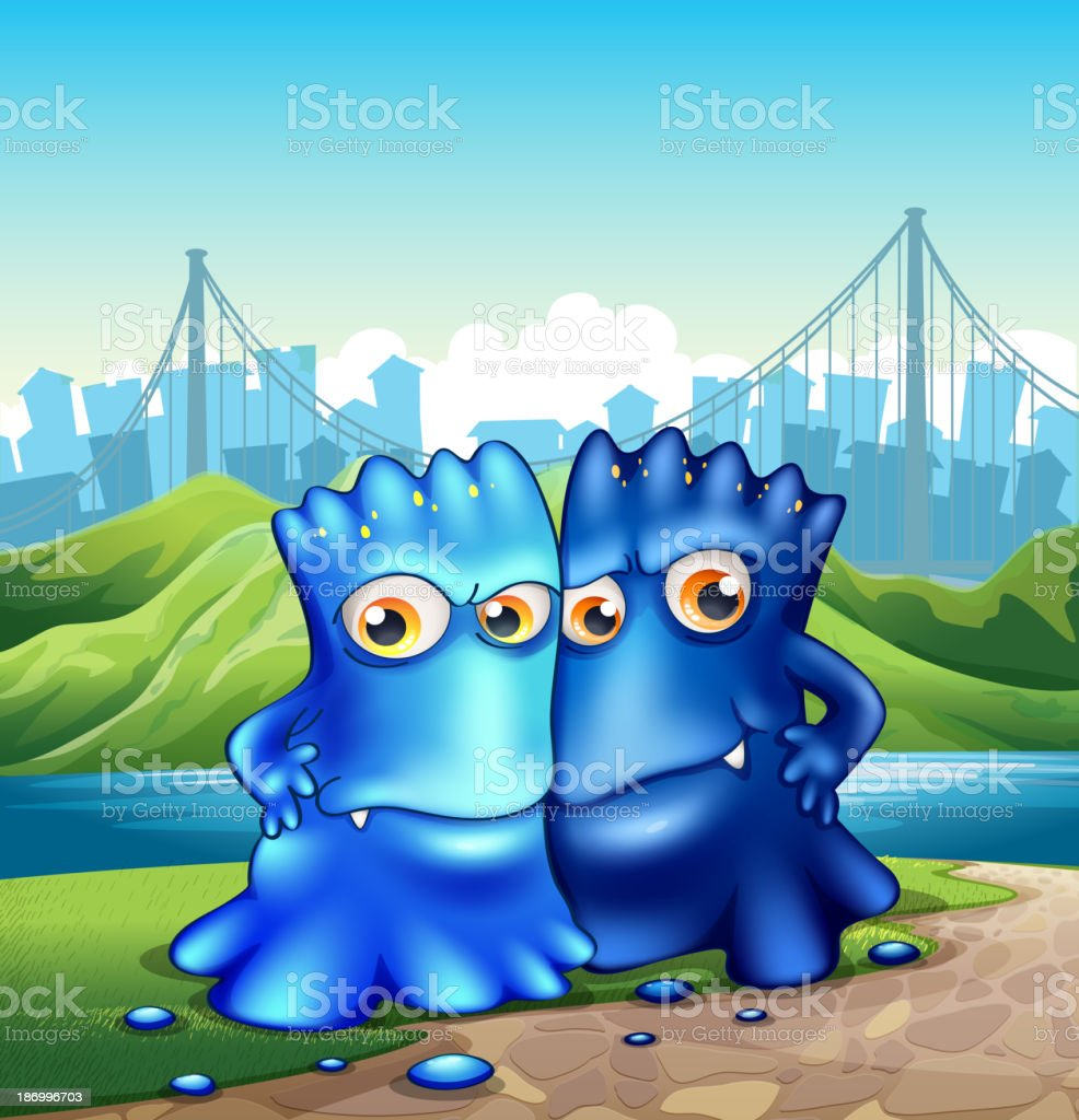 Two monsters in the city royalty-free two monsters in the city stock vector art & more images of alien