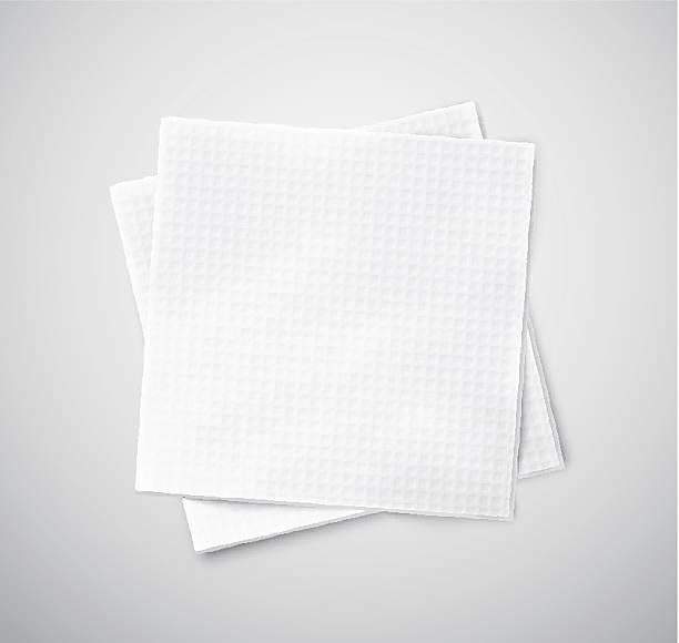 stockillustraties, clipart, cartoons en iconen met two napkins - servet