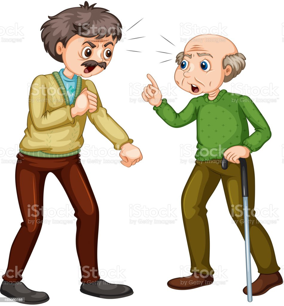 Two People Arguing Clipart