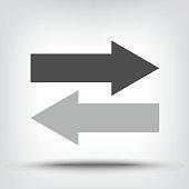 Two opposing arrow