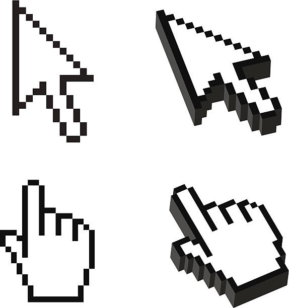 two or three dimensional shape cursor set - 游標 幅插畫檔、美工圖案、卡通及圖標