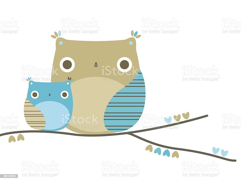 Two owls royalty-free two owls stock vector art & more images of animal