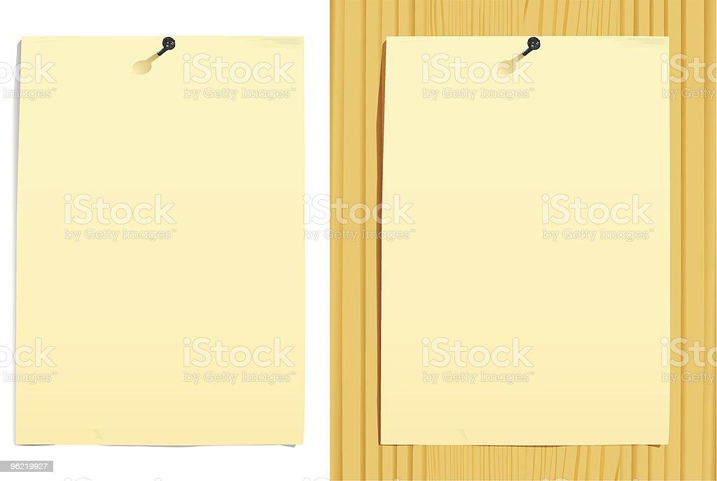 Dos Hojas De Papel En Blanco Textura De Madera Y Illustracion Libre