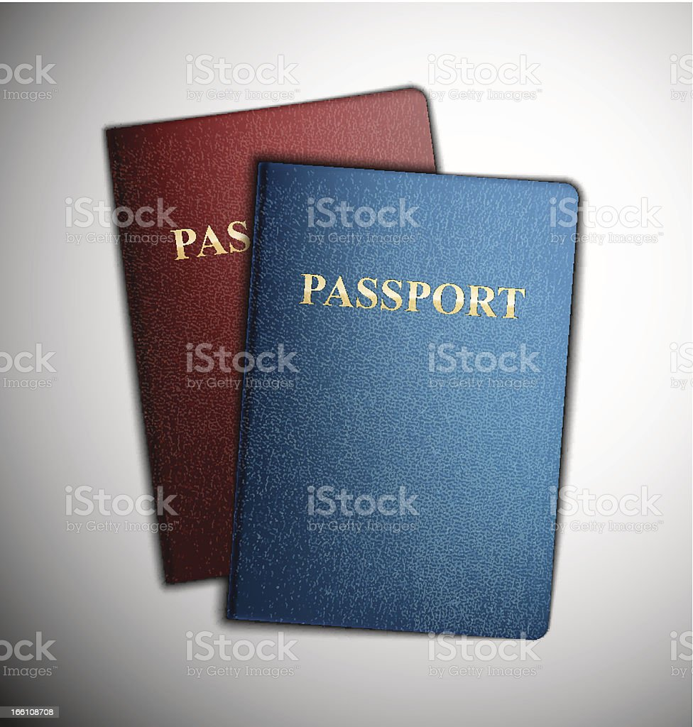 Two passports royalty-free stock vector art