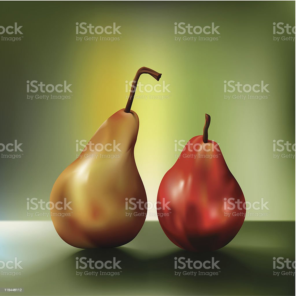 two pears royalty-free stock vector art