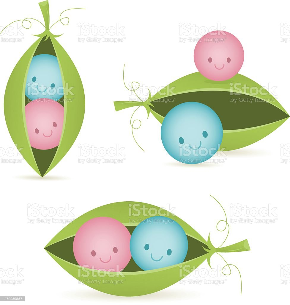 Two peas in a pod stock vector art more images of baby for Peas in a pod craft