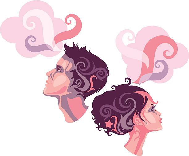 Dwie osoby. – artystyczna grafika wektorowa