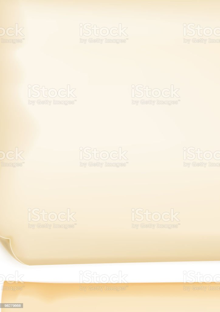 Two pieces of yellowish papers royalty-free two pieces of yellowish papers stock vector art & more images of backgrounds