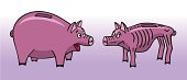 istock Two piggy bank. 188047902