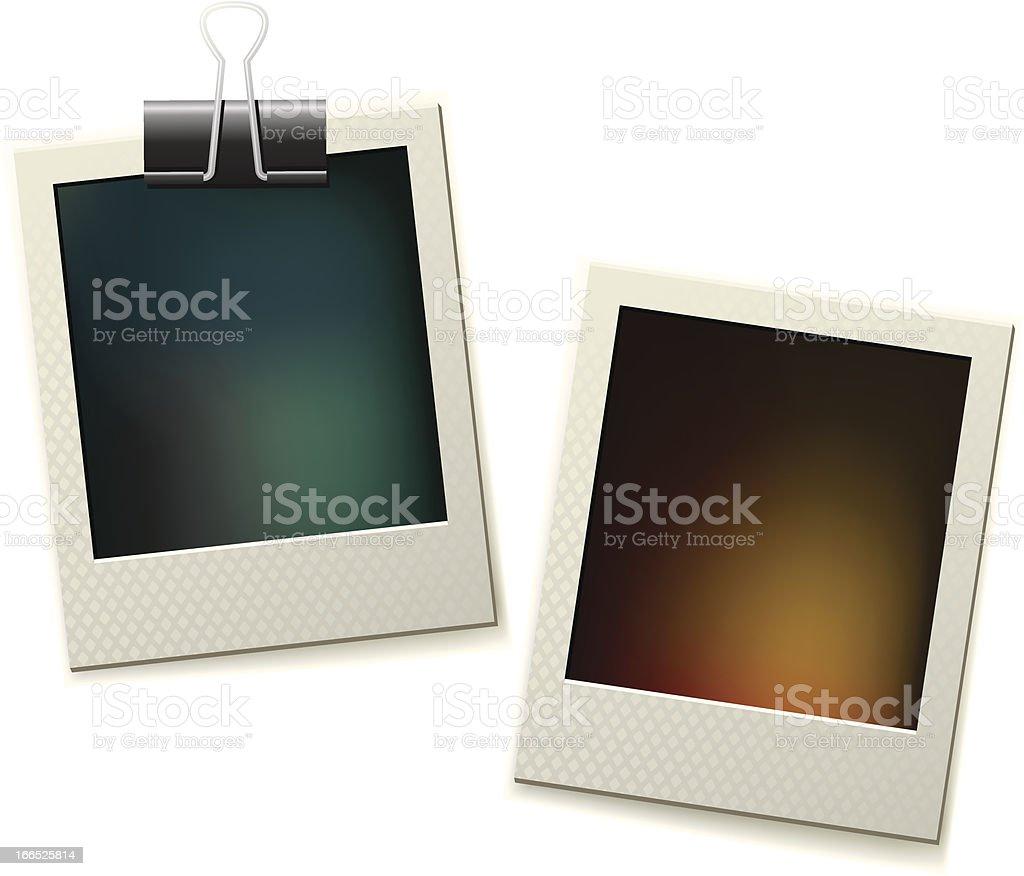 Two Polaroid Pictures Stock Illustration