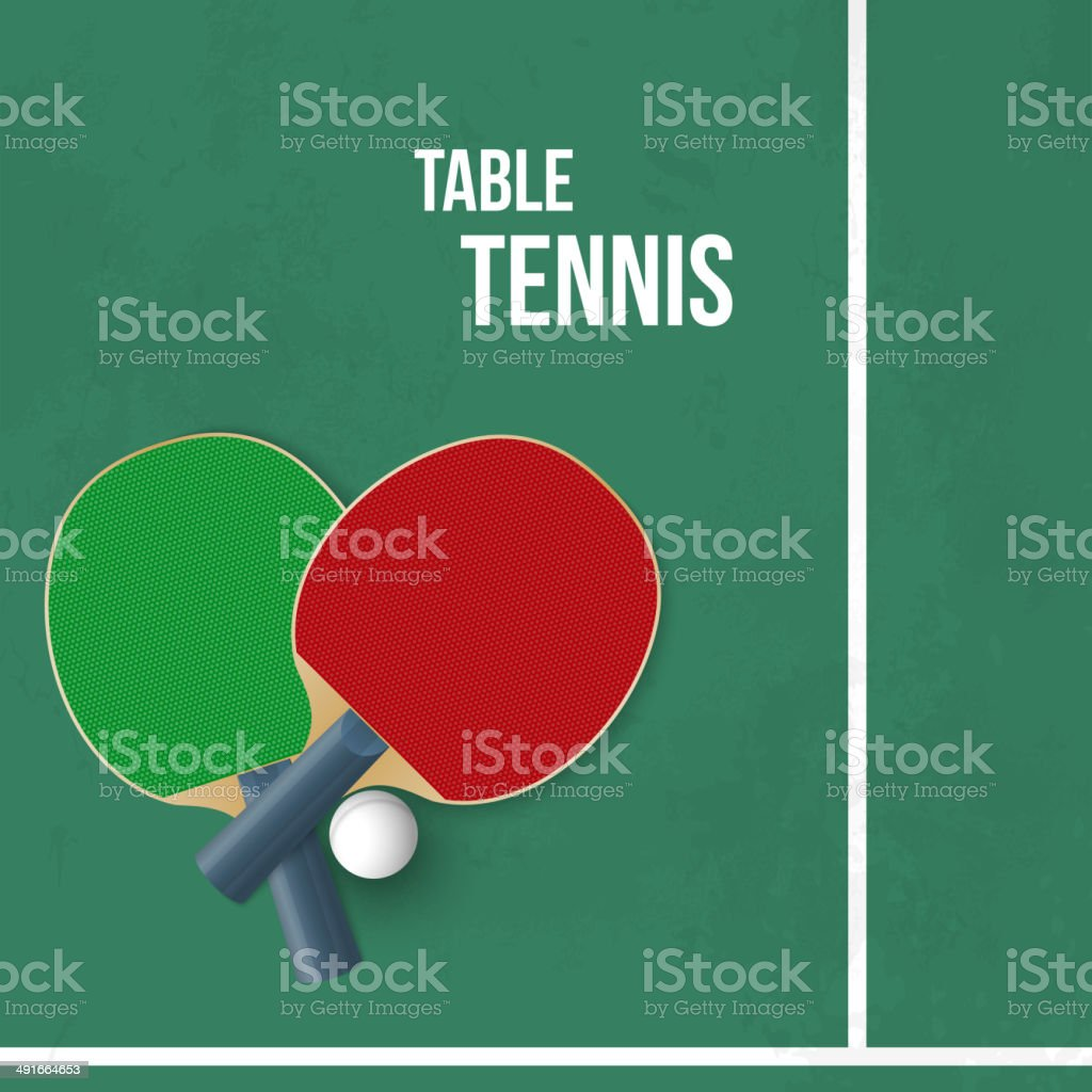Two rackets for playing table tennis. Vector vector art illustration