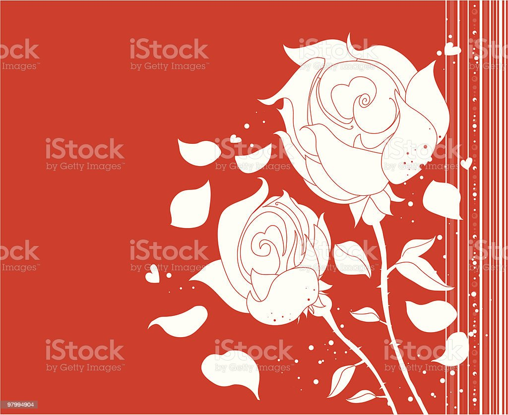 two red roses royalty-free two red roses stock vector art & more images of abstract