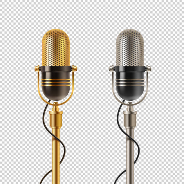 Old Microphone Illustrations, Royalty-Free Vector Graphics ...