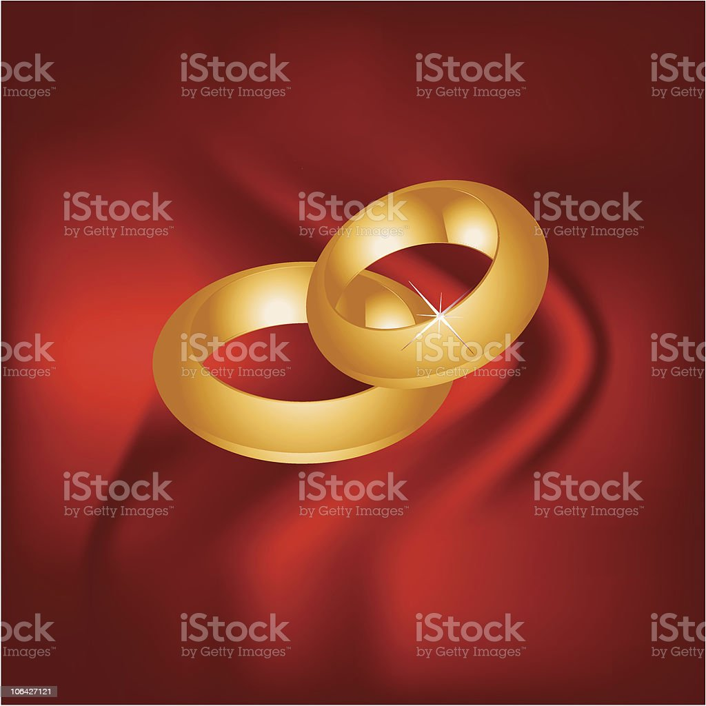 two rings royalty-free stock vector art