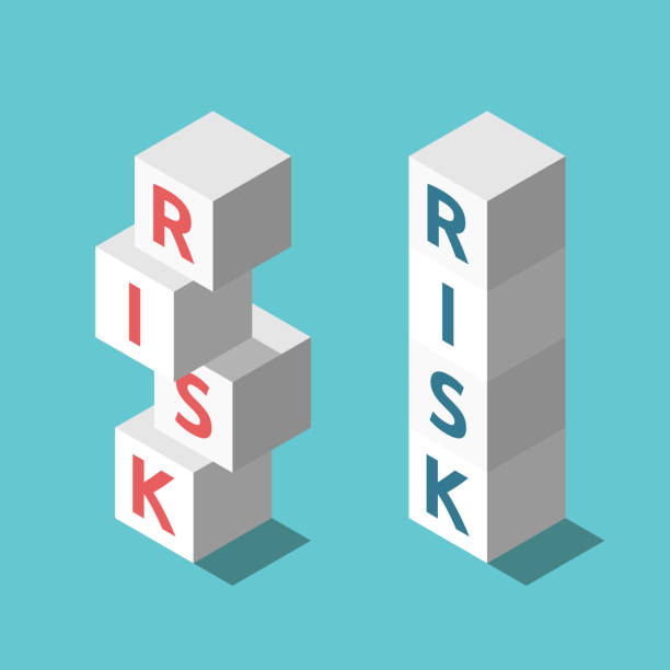 Zwei Stapel Risikomanagement – Vektorgrafik