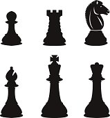 Two rows of every type of chess piece