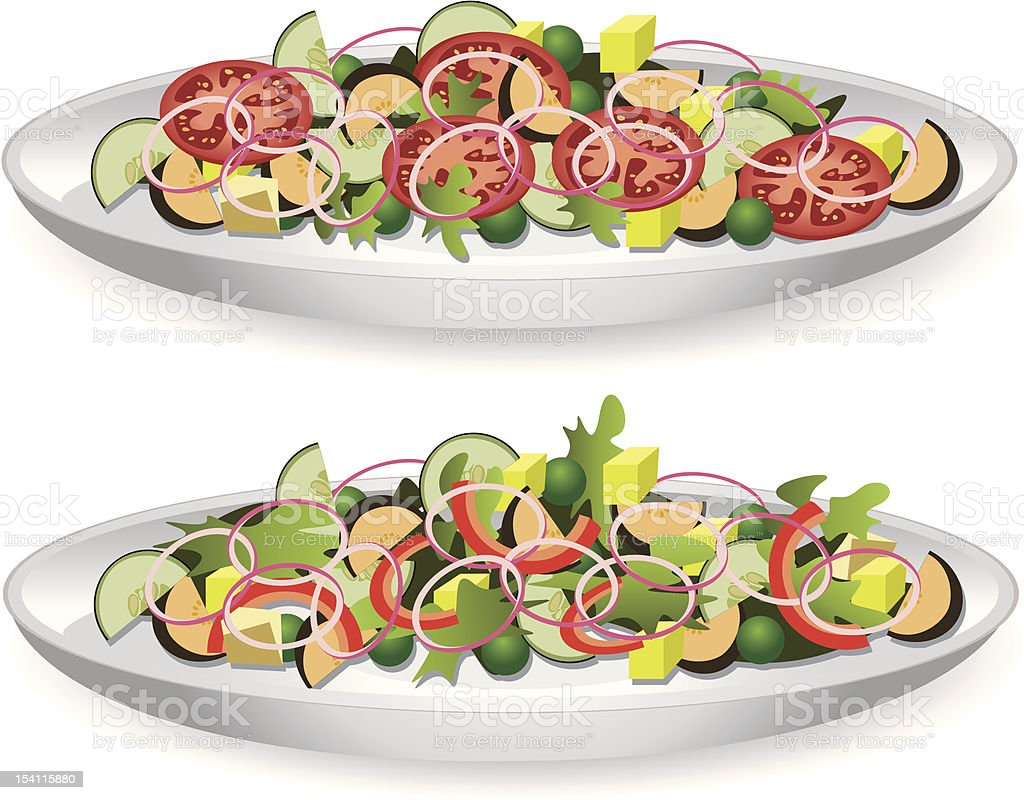 two salads royalty-free two salads stock vector art & more images of appetizer