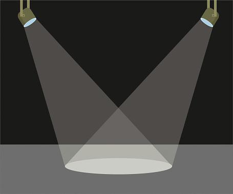 Two scene light vector illustration