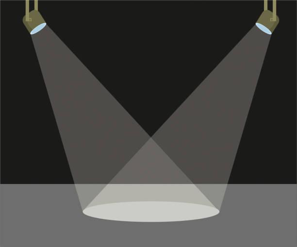 Two scene light vector illustration scene light spot lit stock illustrations