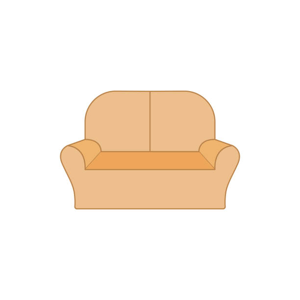 Royalty Free Two Seater Sofa Clip Art, Vector Images ...