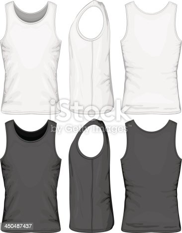 Two separate gray and white singlets