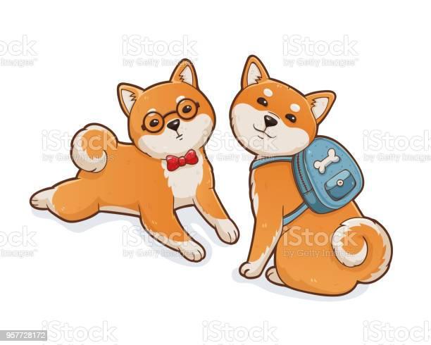 Two shiba inu dogs vector id957728172?b=1&k=6&m=957728172&s=612x612&h=kcetedccwwqygl2t8ej8lwuvic1r8dwj6ld071x3roc=