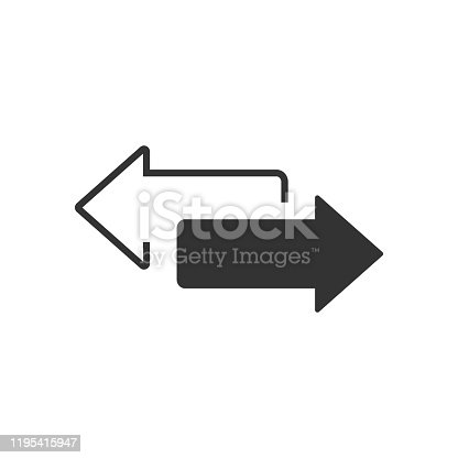 istock Two Sided Arrow Vector Images 1195415947