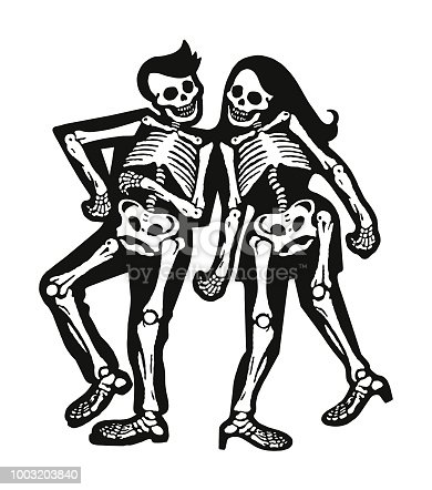 Two Skeleton Dancers