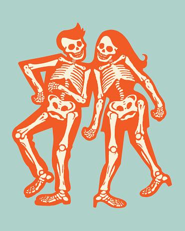 Two Skeleton Dancers