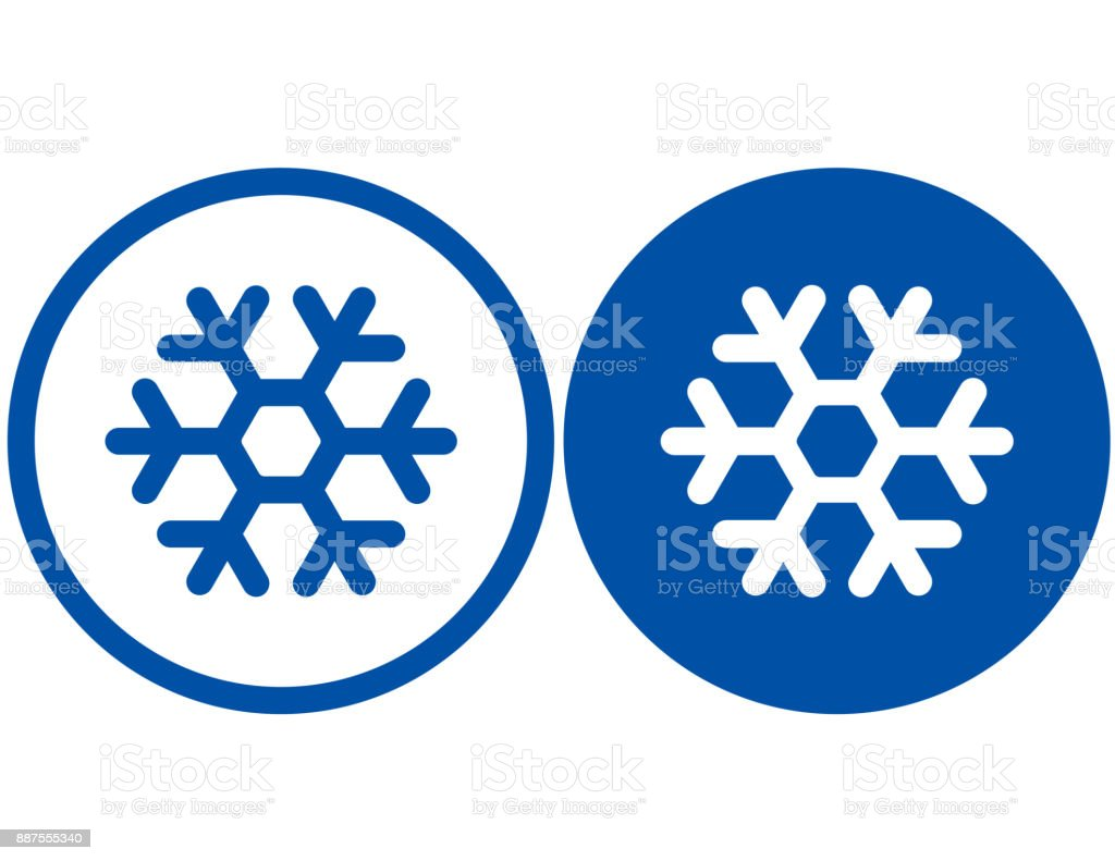 two snowflake signs vector art illustration