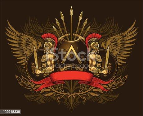 istock Two Spartan warriors 125918336