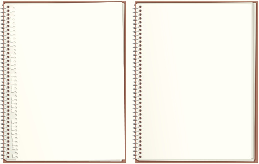 Two spiral bound paper notepads