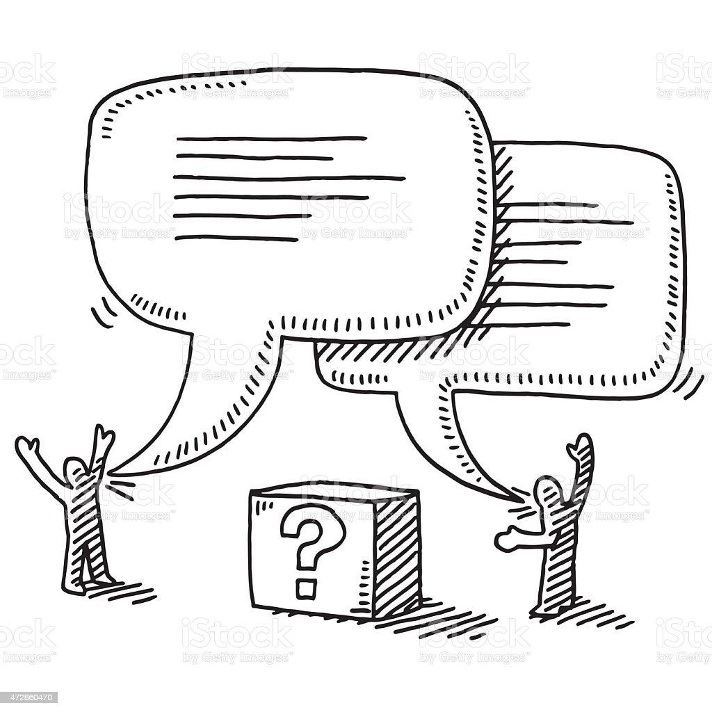 Figure Di Persone Stilizzate.Due Figure Stilizzate Punto Interrogativo Disegno Della Finestra Di