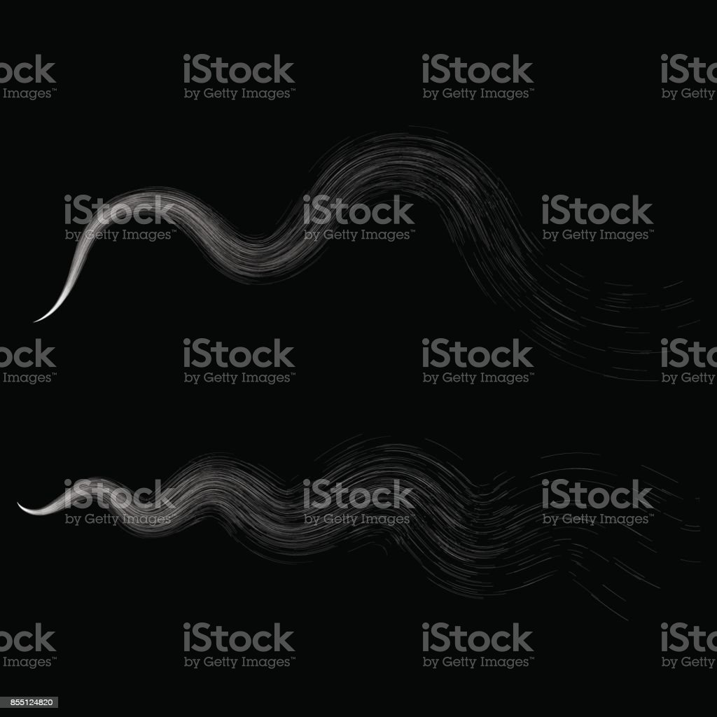Two Streams of Paint vector art illustration