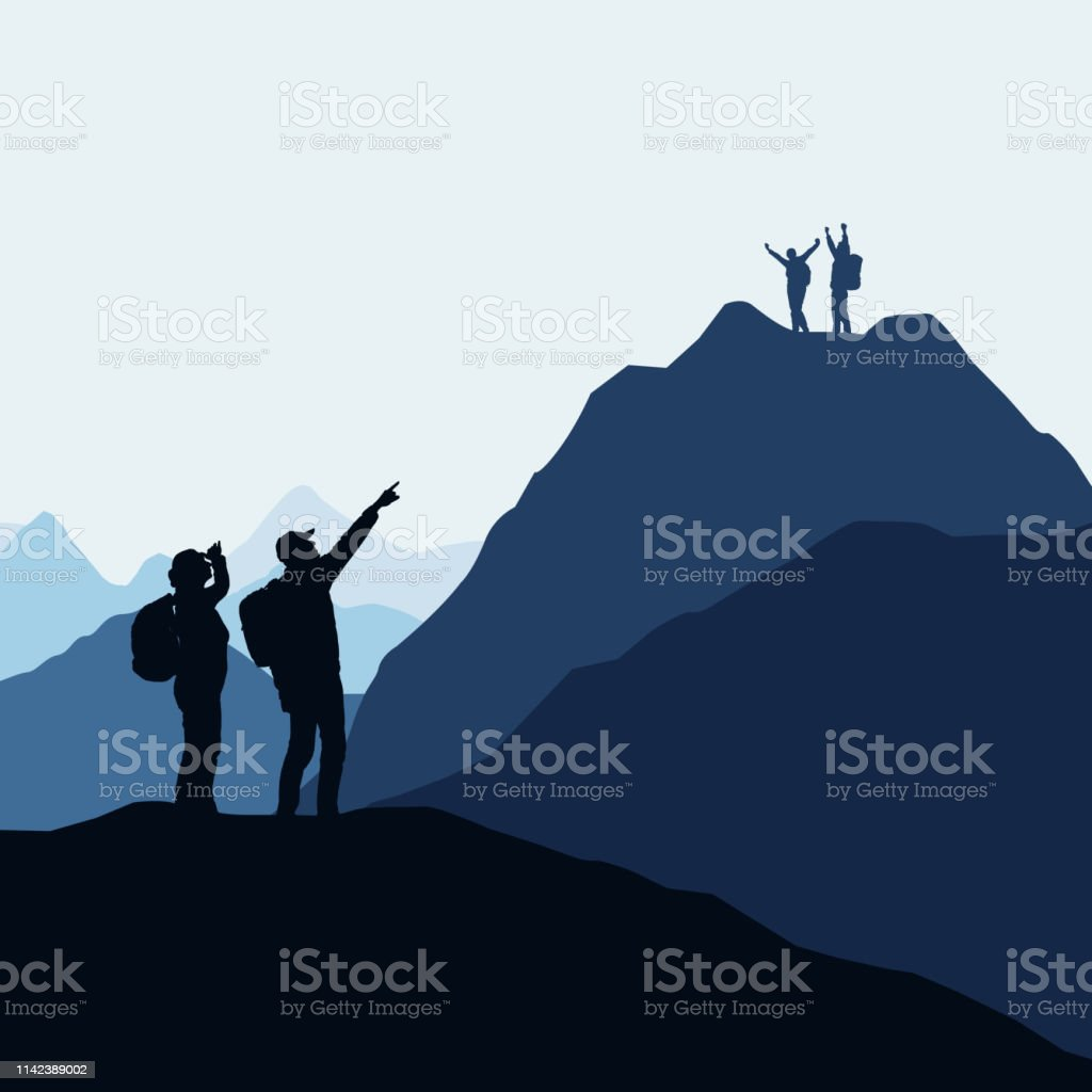 Two teams of climbers, men and women compete for victory or success....